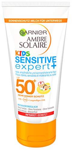 Garnier Ambre Solaire Sonnencreme Kids / Sonnenschutz-Milch für Kinder extra wasserfest / LSF 50+,...