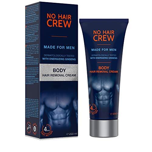 NO HAIR CREW Premium Enthaarungscreme für den Körper – gründliche und sanfte Haarentfernung...