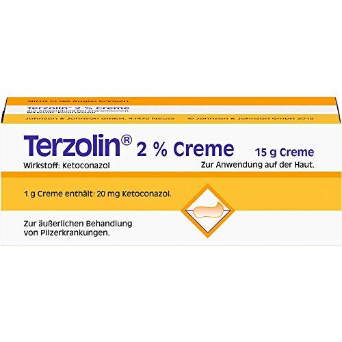 Terzolin 2% Creme zur äußerlichen Behandlung von Pilzerkrankungen, 15 g Creme