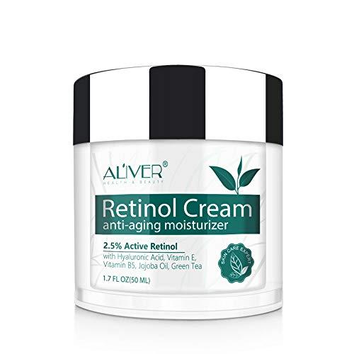 Retinol Gesichtscreme,IFUDOIT Retinol Feuchtigkeitscreme, Anti-Aging-Falten-Nacht- / Tagescreme für...