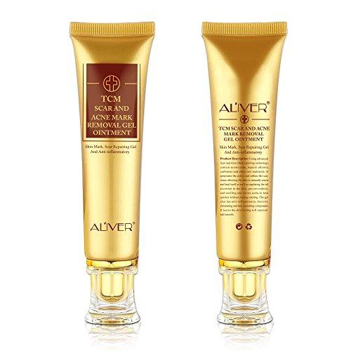 2 Stk TCM Akne-Narbenentfernungscreme, Narbengel, Narbensalbe,Narbencreme für Gesicht und Körper,...