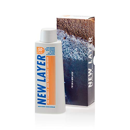 NEW LAYER Sonnencreme | LSF 50+ | Pro Vitamin D | Frei von Mikroplastik | Reef-friendly | Frei von...