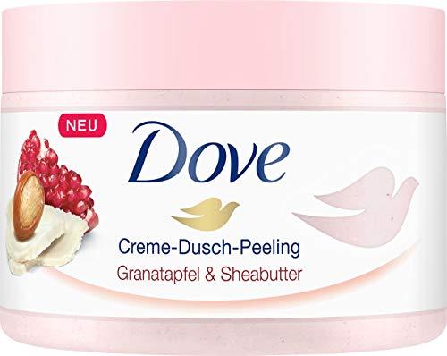 Dove Creme-Dusch-Peeling für seidig glatte Haut Granatapfel & Sheabutter mit reichhaltiger Textur,...