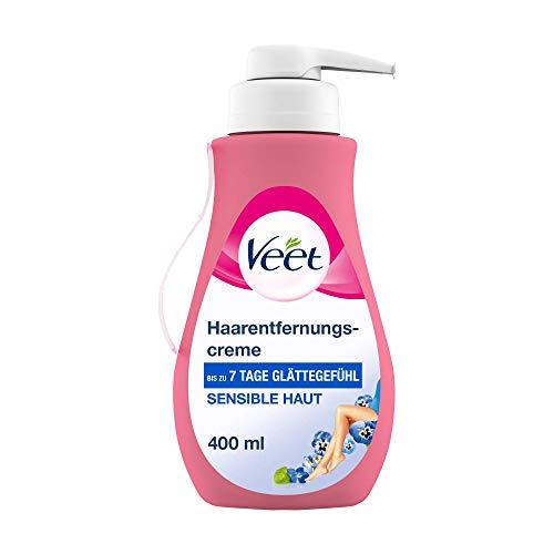 Veet Sensitive Haarentfernungscreme – Schnelle & effektive Haarentfernung für seidig-glatte Haut...