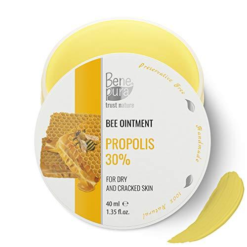 Natürliche Salbe mit 30% Propolis - kaltgepresstes Öl Extrakt, 100% natürlich -gegen Falten und...