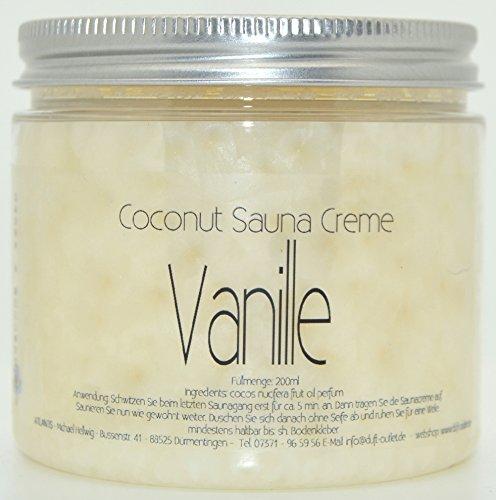 VANILLE 200ml Coconut Sauna Creme-Saunacreme-Pflegecreme-Pflege Creme-Saunapflege-Kokosöl-Kokos...