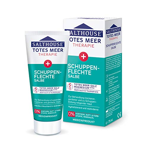 SALTHOUSE® Totes Meer Therapie Schuppenflechte Salbe I Hydratisierend und reizlindernd I Totes Meer...