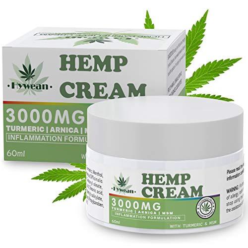 Hywean Anti-entzündliche Hanf creme 3000MG, 60ML Hemp Healing Ointment für Rücken, Knie, Hände,...