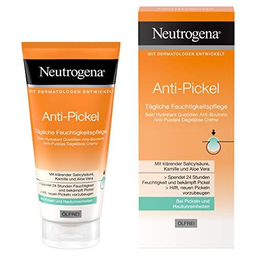 Neutrogena Anti-Pickel Tägliche Feuchtigkeitspflege, ölfreie Feuchtigkeitscreme mit klärender...