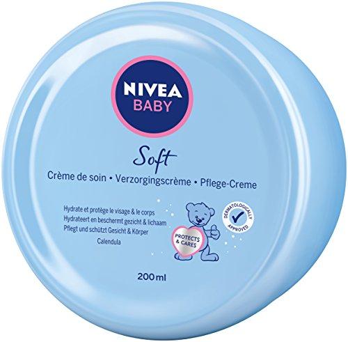 NIVEA BABY Soft Pflegecreme (200 ml), Hautcreme pflegt und schützt 24 Stunden lang,...