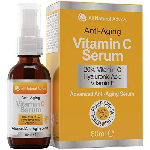 Vitamin C Serum Hochdosiert 20% 60ml | Vegane Kosmetik für Gesicht – Dekolleté | Mit...