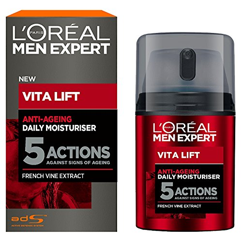 L'Oréal Men Vita Lift 5 Anti Age Total, Feuchtigkeitspflege Männer, Anti Aging Creme, 1er Pack (1...