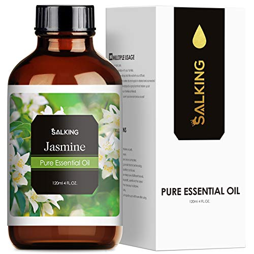 SALKING Jasminöl 120ml, 100% Bio Jasmin ätherisches öl für Aroma Diffuser, Aromatherapie Duftöl...