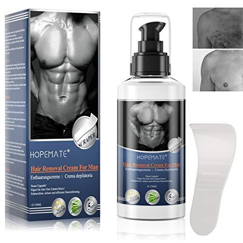 Enthaarungscreme, Haarentfernungscreme, Aloe Hair Removal Cream Feuchtigkeitsspendend für Männer...