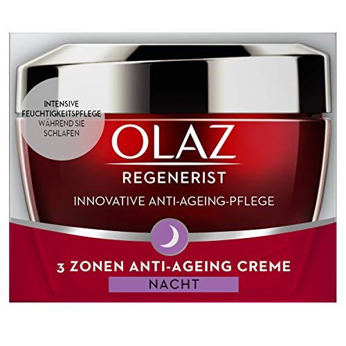 Olaz Regenerist 3-Zonen Straffende Anti-Aging Creme Für Die Nacht 50ml, Mit Amino-Peptid-Komplex...