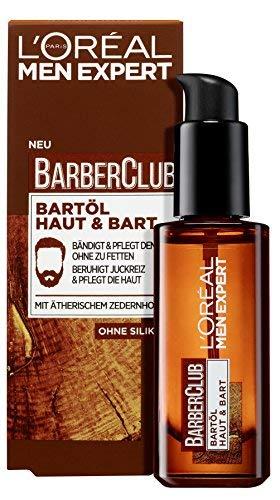 L'Oréal Men Expert Bartöl mit Zedernholzöl für die tägliche Bartpflege, Barber Club, 1 x 30 ml