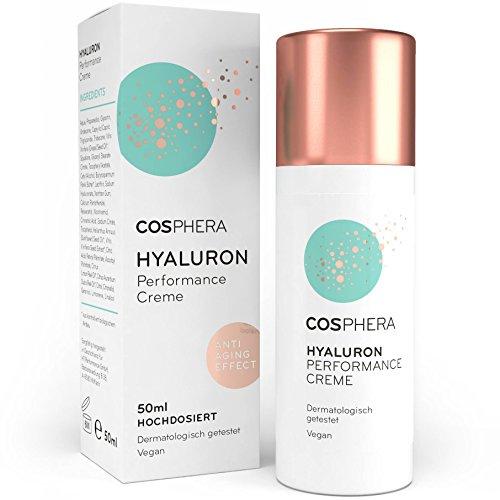 Cosphera - Hyaluron Performance Creme 50 ml - vegane Tages- und Nachtcreme hochdosiert für Gesicht,...
