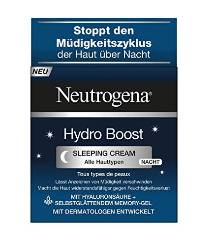 Neutrogena Hydro Boost Sleeping Cream - Nachtcreme mit Hyaluron-Gel-Komplex und selbstglttender...