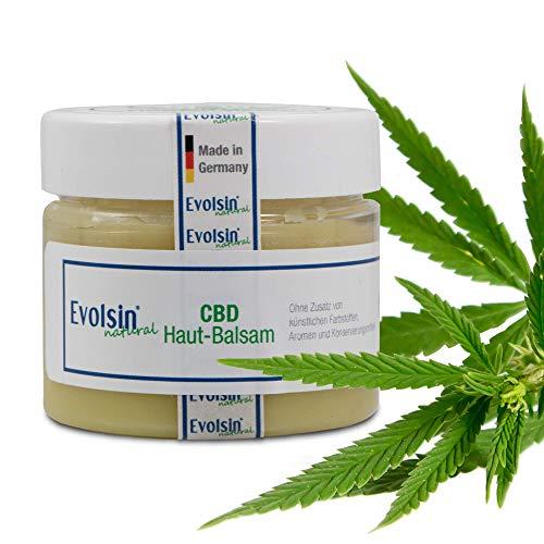 NEU: Evolsin® natural CBD Creme I 100% Bio I 250mg CBD I Hanf Creme gegen Akne, Neurodermitis,...