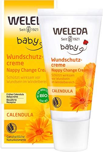 WELEDA Baby Calendula Wundschutzcreme / Babycreme, Naturkosmetik Wundsalbe für den Schutz...