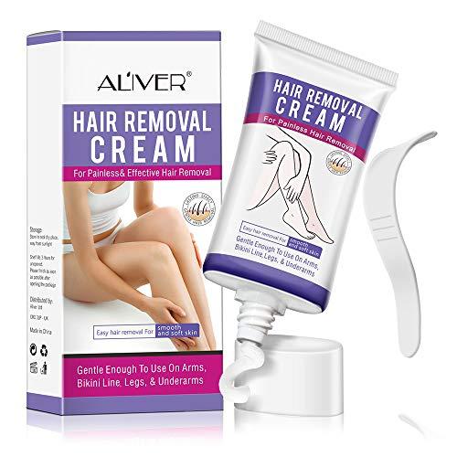 Haarentfernungscreme, IFUDOIT Natürliche schmerzfreie Enthaarungscreme, Haarentferner für Männer...