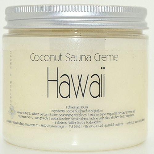 HAWAII 200ml Coconut Sauna Creme-Saunacreme-Pflegecreme-Pflege Creme-Saunapflege-Kokosöl-Kokos Öl-...