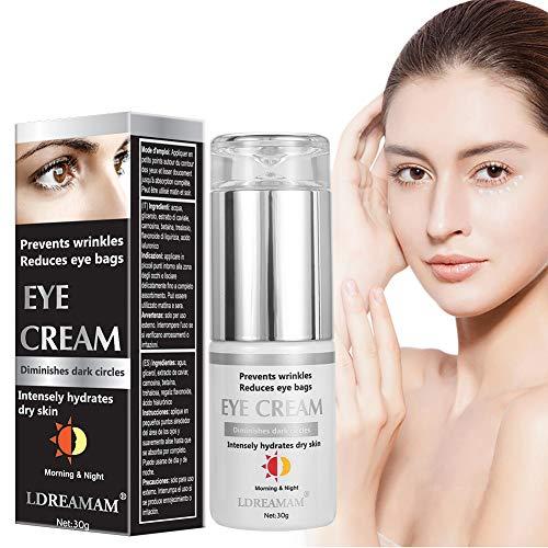 Augencreme, Eye Cream, Augenringe Creme, Augencreme Falten, Natürliche Hyaluron Anti-Aging Creme,um...