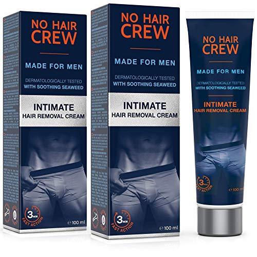 2 x NO HAIR CREW Premium Enthaarungscreme für den Intimbereich – extra sanfte Haarentfernung für...