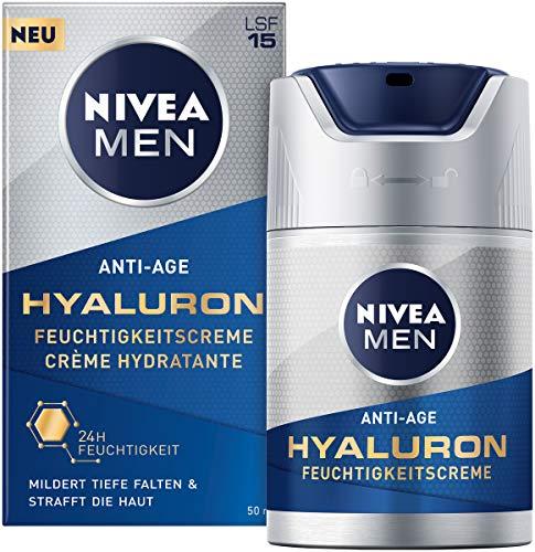 Nivea Men Anti-Age Hyaluron Feuchtigkeitscreme (50 ml), Gesichtscreme mit LSF 15 mildert selbst...