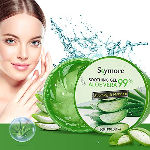 Skymore 300ml Aloe Vera Gel, Aloe Vera Creme für trockene Haut, After sun gel, Sonnenbrand...