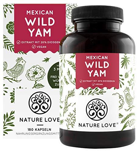 NATURE LOVE® Wild Yam Kapseln - Vergleichssieger 2020* - Original Mexican Wild Yamswurzel -...