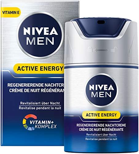 NIVEA MEN Active Energy Regenerierende Nachtcreme im 1er Pack (1 x 50 ml), regenerierende Nachtcreme...