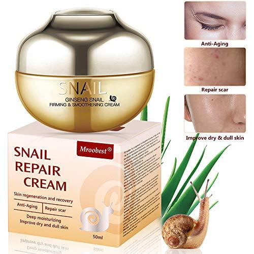 Schneckencreme, Schnecke Feuchtigkeitscreme, Anti Aging Creme, Gesichtscreme mit Schnecken-Extrakt...