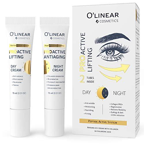 Augencreme mit Vitamin C, B5, COENZYM Q10 und E sowie Hyaluronsäure (2x15ml) – Anti Aging Creme...