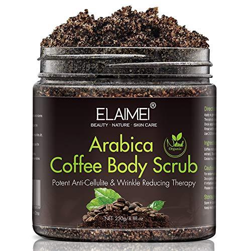 Natürliches Kaffee Body Scrub Peeling mit Bio-Kaffee-Körperpeeling, Face, Body Scrub Peeling