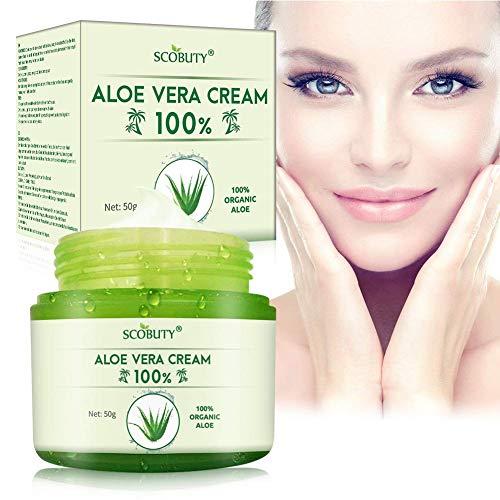 Aloe Vera Creme,Aloe Vera Gesichtscreme,Aloe Vera Körpercreme,Feuchtigkeitscreme Hautpflege für...