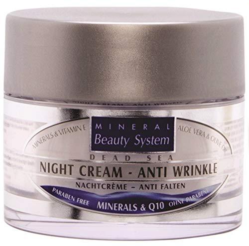 Totes Meer Nacht Crème - Anti Falten, Mineralien & Q10 - 50 ml 100% Original by Mineral Beauty...