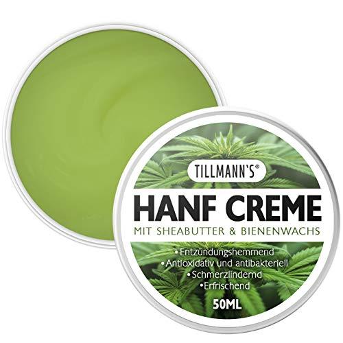 Hanfsalbe gegen Schmerzen und Hautirritationen, 50ML Hanfcreme mit Shea Butter und Kokosöl von...
