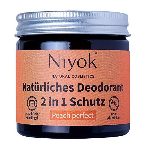 Niyok® 2 in 1 Deodorant Creme Anti-Transpirant - Peach Perfect – 40ml