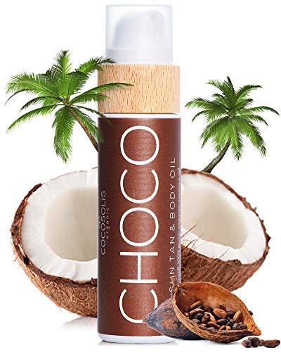 COCOSOLIS Choco Bräunungsbeschleuniger mit Vitamin E, Kakaobutter - Bräunungscreme & Bodylotion...