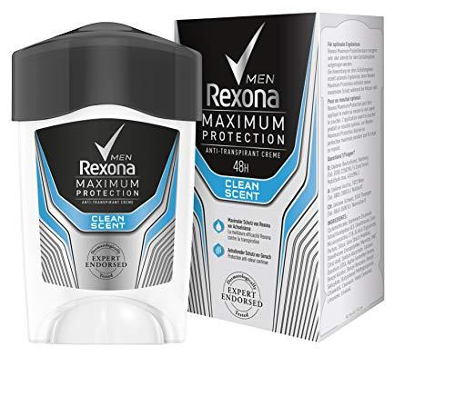 Rexona Maximum Protection Clean Scent Men, Anti-Transpirant Cremestick für langanhaltende Frische...