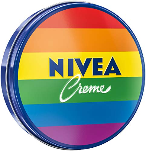 NIVEA Creme Dose Limited Edition im Regenbogen-Design (150 ml), klassische Feuchtigkeitscreme für...
