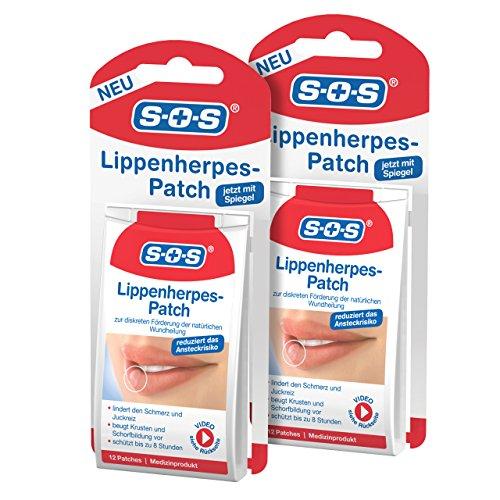 SOS Lippen-Herpes-Patch, zur Förderung der Wundheilung bei Lippenherpes, diskrete Herpes Pflaster...