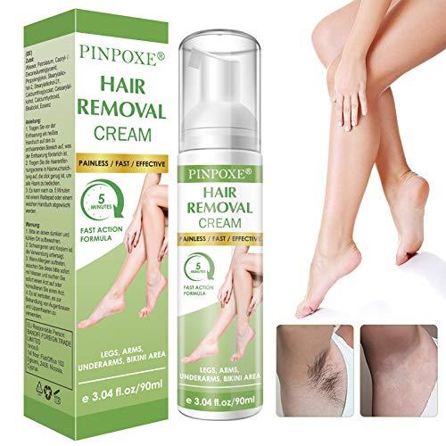 Enthaarungscreme, Haarentfernungscreme, Hair Removal Cream, Enthaarungsmittel Schmerzlose für...