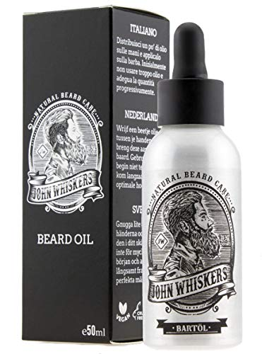 John Whiskers Bartöl Made in Germany - 50ml - beste Qualitätsöle für einen weichen und gesunden...