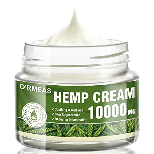Hanf Creme Hemp Oil Cream zur Schmerzlinderung –Cannabisöl Hanföl Extrakt & Hanf Salbe Komplex...
