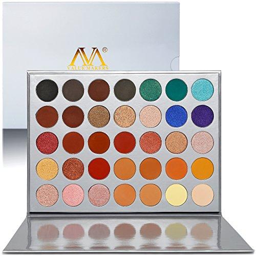 Lidschatten Palette Matt Bunt,Valuemakers Eyeshadow Palette Creme Hochpigmentierte,Paletten...