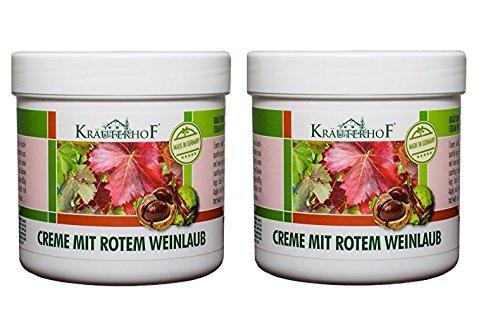Kräuterhof Creme mit rotem Weinlaub 250 ml 2er Pack (2 x 250 ml= 500 ml)