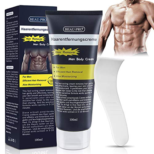 Enthaarungscreme Haarentfernungscreme Männer intimbereich, Hair Removal Cream, Enthaarungsmittel...