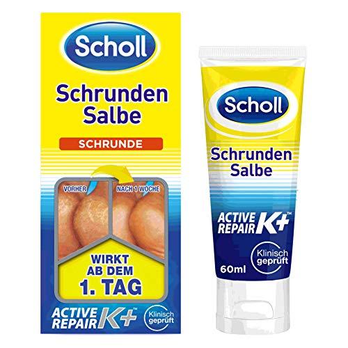 Scholl Schrundensalbe Active Repair K+ gegen Hautschäden an rauen, trockenen & rissigen Fersen –...